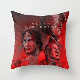 Death Stranding Red Throw Pillow