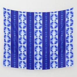 Shibori strips Wall Tapestry