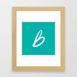 Recettes du Bonheur - Bleu Framed Art Print