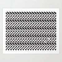 herringbone Art Prints featuring Herringbone by Erik Mace