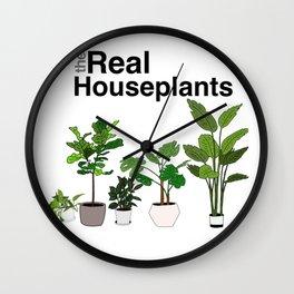 the real houseplants Wall Clock