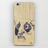 lip iPhone & iPod Skins featuring Bear Lip  by Fox Carpenter