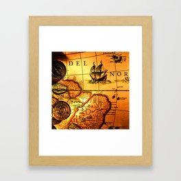 map sea Framed Art Print