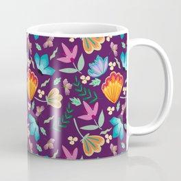 Brilliant Blooms on Purple Coffee Mug