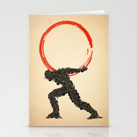 atlas Stationery Cards featuring Atlas by Dave Razor Compton Wolff