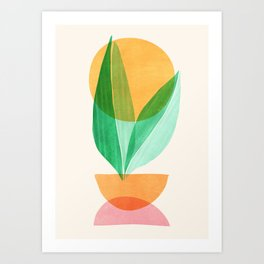 Summer Stack / Abstract Plant Illustration Art Print