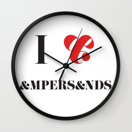 I heart Ampersands Wall Clock