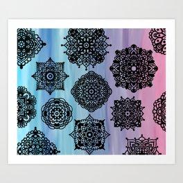 Zentangle Flow Art Print