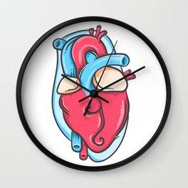 Realistic Heart Wall Clock