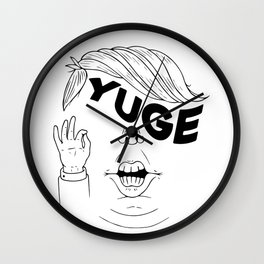 YUGE Wall Clock