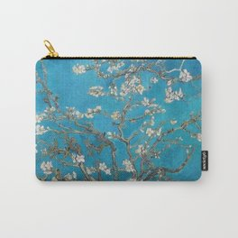 Vincent van Gogh Blossoming Almond Tree (Almond Blossoms) Medium Blue Carry-All Pouch