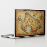 pirates Laptop & iPad Skins featuring Pirates Map by ''CVogiatzi.