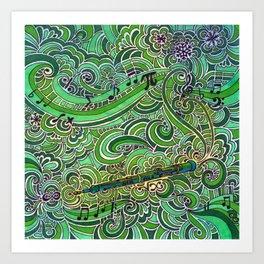 Oboe Art Print