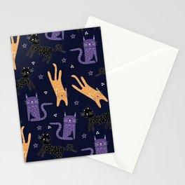wild cat life patttern Stationery Cards