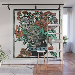 """Australian Gum Blossoms"" by Margaret Preston Wall Mural"