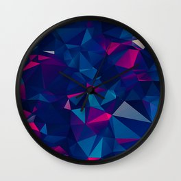 Faceted Shatter Wall Clock
