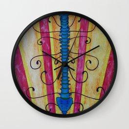 Blue backbone Wall Clock
