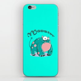 funny monster  iPhone Skin