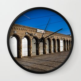 Old tram depot of Berlin Wall Clock