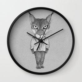 Lynx hipster.  Wall Clock