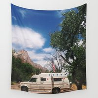 america Wall Tapestries featuring America by Lauren Ogard