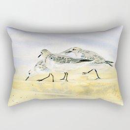 Trio Sandpipers Rectangular Pillow