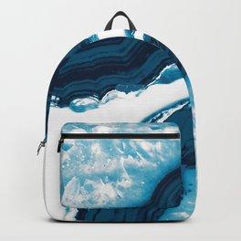 Blue Agate #1 #gem #decor #art #society6 Backpack