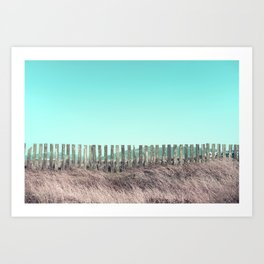 Candy fences Art Print
