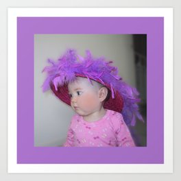 Red Hat Society - Red and Purple Hat Babe Art Print