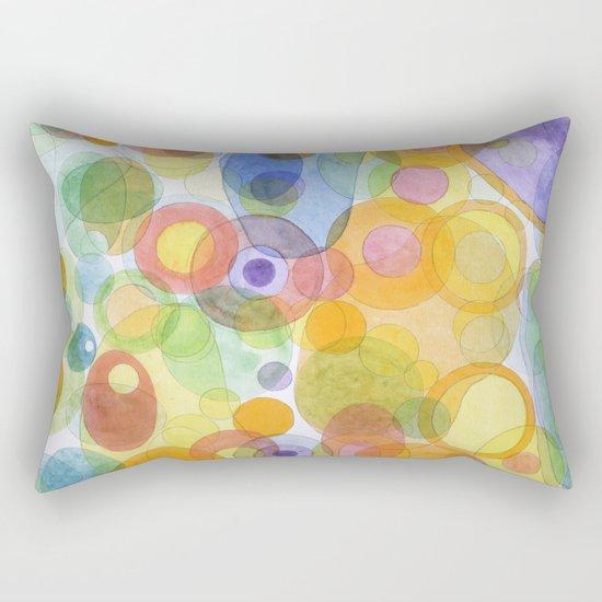 Vividly interacting Circles Ovals and Free Shapes Rectangular Pillow