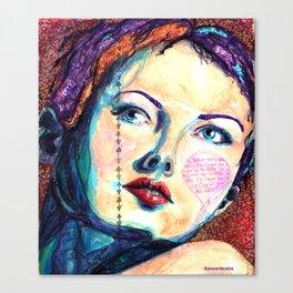 Herz uber Kopf Canvas Print