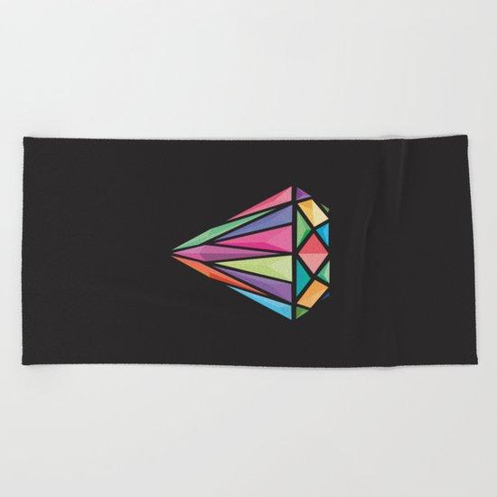 Geometric Diamond Beach Towel
