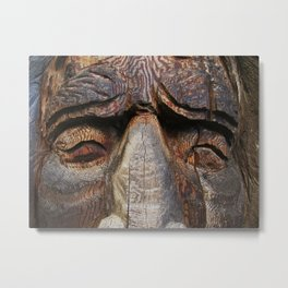 Wise men are made of wood Metal Print