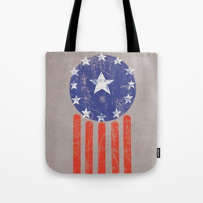 Old World American Flag Tote Bag