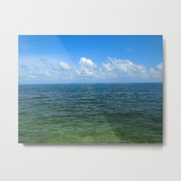Clouds and Sea Metal Print