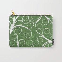 Green Background Carry-All Pouch