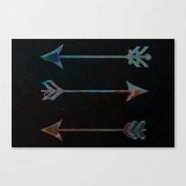 arrow minded texturized Canvas Print