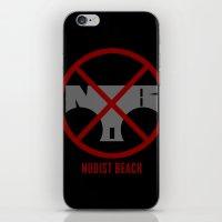 kill la kill iPhone & iPod Skins featuring Kill la Kill: Nudist Beach by Paranormal Standard