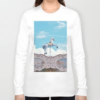carousel Long Sleeve T-shirts featuring carousel by cavernsss