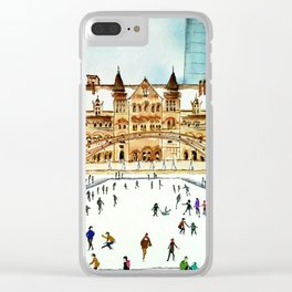 Late Afternoon Skate Clear iPhone Case