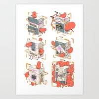 cigarettes Art Prints featuring Cigarettes Deluxe by Kensausage