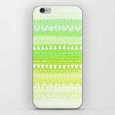 Triangle Gradient Lime Mix iPhone & iPod Skin