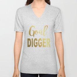 Goal Digger Gold Foil Unisex V-Neck