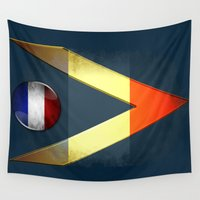 france Wall Tapestries featuring France by ilustrarte