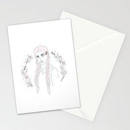Blue-Eyed Girl Stationery Cards