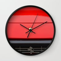 ferrari Wall Clocks featuring Ferrari 1 by Rainer Steinke
