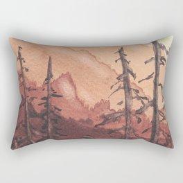 Tonal Mountain Study Quinacrodone Gold Rectangular Pillow