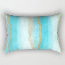 Gold and blue sea Rectangular Pillow