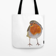 Winter Robin Tote Bag