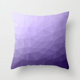 Ultra violet purple geometric mesh Throw Pillow